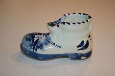 """Delft Blue Shoe Boot Porcelain 4"""" x 2"""" Holland"""