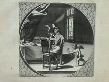 """Raucher 3 Kupferstiche aus Cats """"Alle de Werken"""" 1700 u.a."""