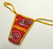 NFL KANSAS CITY CHIEFS PANTY THONG GOLD TRIM SML/MED MORE NFL IN MY EBAY STORE