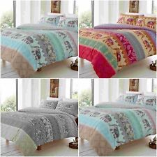 ELLY STYLE INDIAN ELEPHANT DUVET QUILT COVER SET WITH PILLOW CASES BEDDING SET