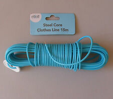 Blue Plastic Covered Steel Core Washing Clothes Line Clothesline 15m, Elliott