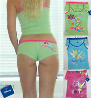 NWT Disney Tinker Bell Top and Shorts Set<S,M,L<4 colors/4 prints