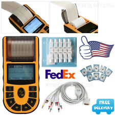 USA Handheld portable 1 channel 12 lead ECG machine Electrocardiograph software