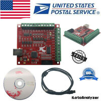 CNC USB MACH3 100Khz Breakout Board 4 Axis Interface Driver Motion Controller US