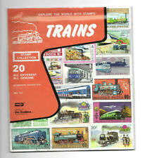 SEALED EXPLORE THE WORLD WITH STAMPS FEATURING TRAINS STAMP COLLECTION NO. 155