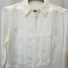 Women's Sz. S Equipment Femme Button Down 100% Silk Blouse Top