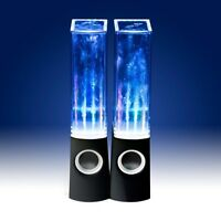 BLUETOOTH & NON BT STEREO DANCING WATER TOWER FOUNTAIN LIGHT SPEAKERS LED IPHONE