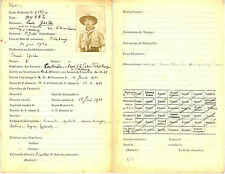 Scouts de France. Dossier de renseignement sur un membre. 1933