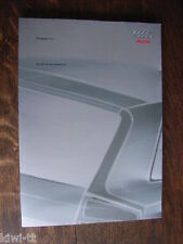 Audi Avantissimo Studie IAA 2001, Pressemappe / Press-kit, 9.2001