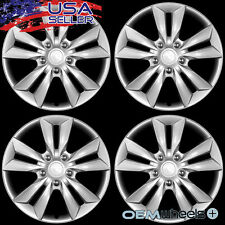 "4 NEW OEM SILVER 16"" HUB CAPS FITS DODGE SUV CAR TRUCK CENTER WHEEL COVERS SET"