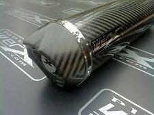 Honda CBR 400 NC 29 Gullarm Karbon Rund,Kohlenstoff Auslass,Auspuff Kanister