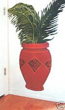 Red Urns W/ Palm Frond Decorative Transfers Creative Wall Art Decor Tatouage