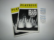Vtg Old 1999 Blue Man Group In Tubes Astor Palace Theatre Playbill + Ticket Stub