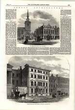 1862 Baron Rothschild New Mansion Picadilly St James New Vestry Hall