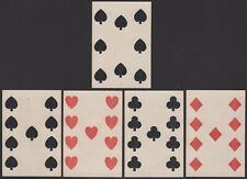 Old Antique CIVIL WAR ERA Square Corner Playing Cards Poker Hand 4 of a Kind 9's