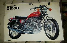 Kawasaki Z1000A2 ( 1977-79 ) factory technical cutaway drawing /picture / poster