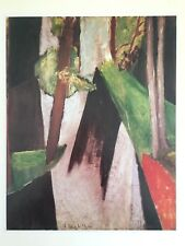 "MATISSE VINTAGE 1973 AUTHENTIC LITHOGRAPH PRINT "" SUNLIGHT IN THE FOREST "" 1914"