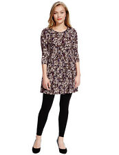 M&S Collection Ladies Floral Skater Tunic Top - Size 6 Petite - NEW BNWT