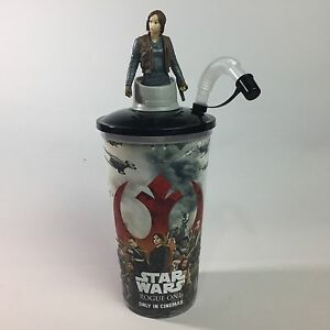 Star Wars Rogue One Cinema Promo Cup With Character Topper - Jyn Erso - 0.75L
