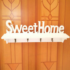 Modern SWEET HOME Wall Decorative Shelf Wood Hang Key Storage Holder