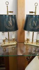 lampe bouillotte Empire en Bronze à deux lumières, une paire ,