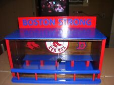 Bobbleheads Boston Red Sox  Dugout display case / Sliding doors & Stained Walnut