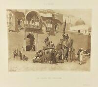 Gravure ancienne à l'eau forte XIXe- E L WEEKS «RAJAH DE JODHPORE» salon 1888