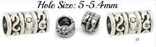Set of 4 Tibetan Silver Beads Hair Braids Dreads Dreadlocks Hole 5-5.4mm 13