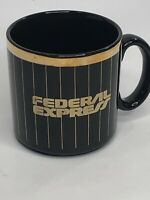 FedEx Federal Express Black Gold Mug Cup Coffee