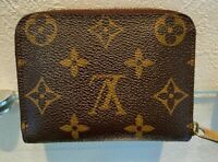 Auth Louis Vuitton Zippy coin purse Coin Pocket Card Case Zip Around coin purse