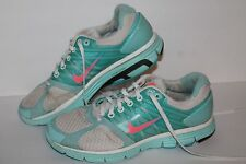 Nike Lunarglide 2 Running Shoes,#414302-101,Wht/Lt Blue/Pink, Women's ~8 or 6.5Y