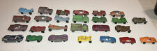 26 Old Vintage Tootsietoy Diecast Toy Cars Trucks; Jeep, Benz, Dragster, Jaguar