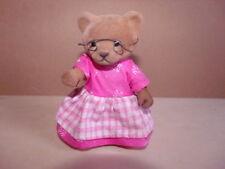 Simba Bärenwald Bär Oma rosa Kleid rosa-weiß kariert Schürze Brille Figur 11cm