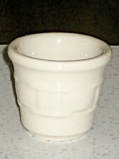 Longaberger Pottery Woven Traditions Ivory Votive Candle Holder ~ Made In Usa!