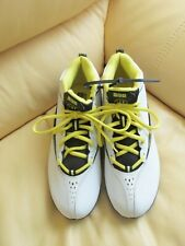 Warrior Vex Youth Lacrosse Shoes/Cleats - White/Black/Yellow - Size Us 6