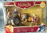 The Chronicles of Nardia Figure Lot - Aslan Reborn, King Edmund, Cyclops Rager