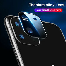 For iPhone 11 Pro Max Full Cover Metal Tempered Glass Film Camera Lens Protector