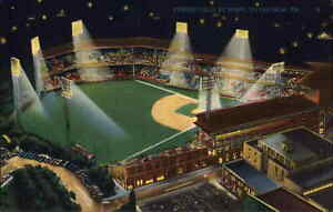 Pittsburgh Pirates Baseball Stadium Forbes Field  c1940s Linen Postcard