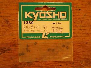 1380 E-Ring (E1.5) 1.5mm E Ring - Kyosho Vintage Hardware