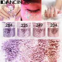 4Pot/Set Pink Purple Flake Chunky Glitter Powder Nail Eyeshadow Tattoo Body