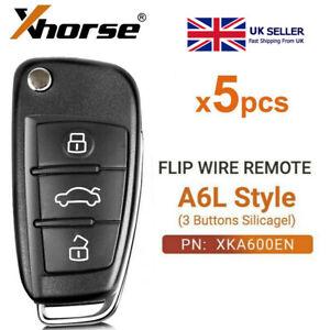 5PCS XHORSE Universal Remote Key For Audi A6L Q7 Type XKA600EN VVDI2 3 Buttons