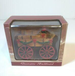 2004 Lemax Village Collection Decorative Buckboard Red Wheel Wagon 43452