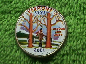 UNITED  STATES   25 Cents   2001  P   COLORIZED    VERMONT   `