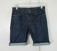 womens blue COH CITIZENS OF HUMANITY jean shorts denim cuffed high rise 27