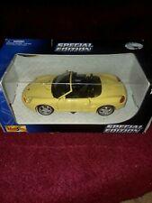 Maisto Porsche Boxter yellow Diecast Car  1:24