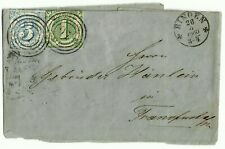 THURN UND TAXIS, MICHEL # 20 & 21, NICE FOLDED COVER DATED YEAR 1860 IN BINGEN