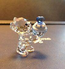 "Swarovski Crystal Figurine 2015 KRIS BEAR, ""Blue Cupcake"" RETIRED"