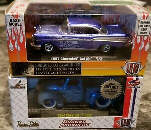2016 DIECAST HALL OF FAME M2 EXCLUSIVE 1954 CHEVY TRUCK & 1957 CHEVY BEL AIR NIB