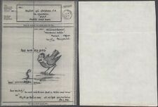 GB WWII - Illustrated Airgraph - Censor D65