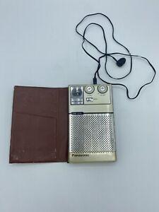 Vintage Panasonic AM/FM Radio RF-105 Portable Compact Single Earphone